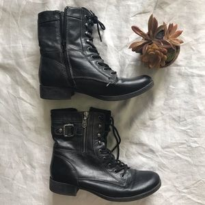 G by Guess black combat boots size 9